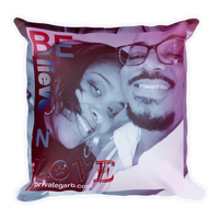 Believe N Love Square Pillow