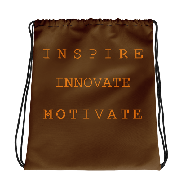 INSPIRE  INNOVATE MOTIVATE Drawstring bag