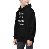 Kids Hoodie-Dark (CREATE YOUR PERSONALIZED DESIGN)