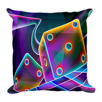 Colorful Dices Square Pillow