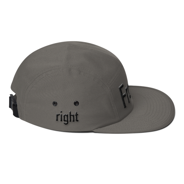 Front Right Left Five Panel Cap