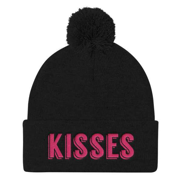 Kisses Pom Pom Knit Cap