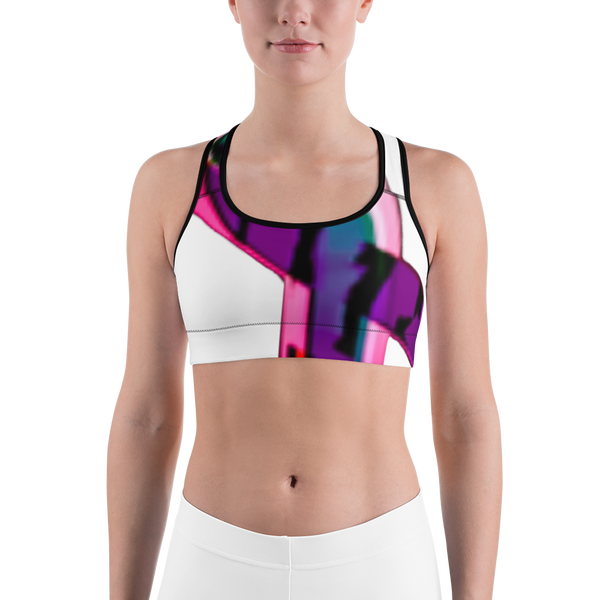 Rainbow Ribbon Sports Bra