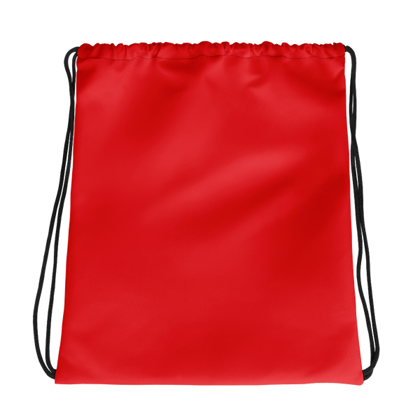 All Red Drawstring bag