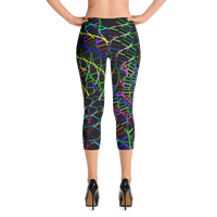 Swirly Swirls Capri Leggings