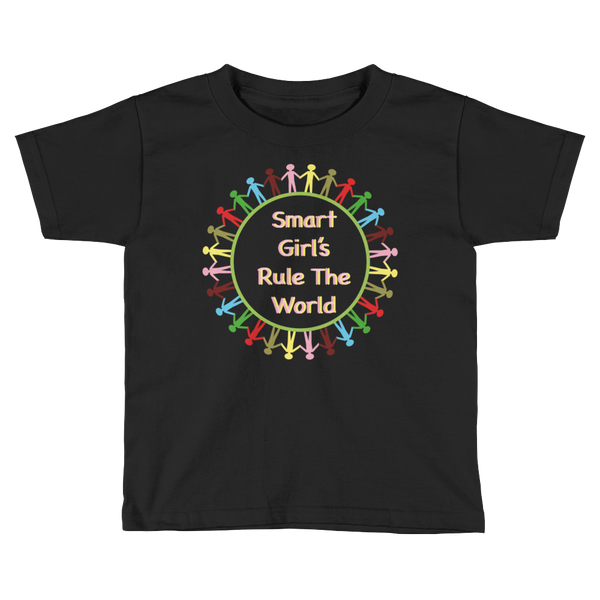 Smart Girl's Rule The World Kids Short Sleeve T-Shirt