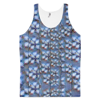 Blue Maze Fragment Classic Fit Tank Top (unisex)