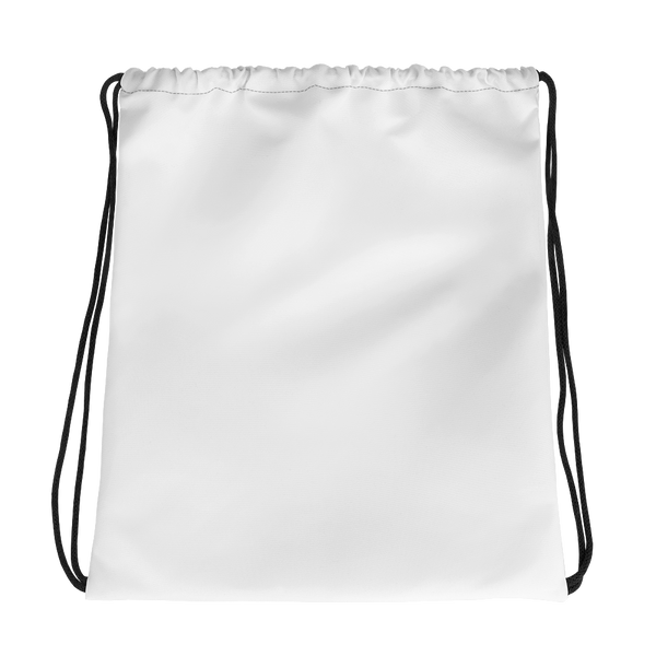 All White Drawstring bag