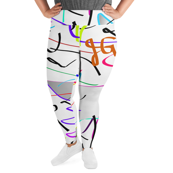 Behind It All All-Over Print Plus Size Leggings