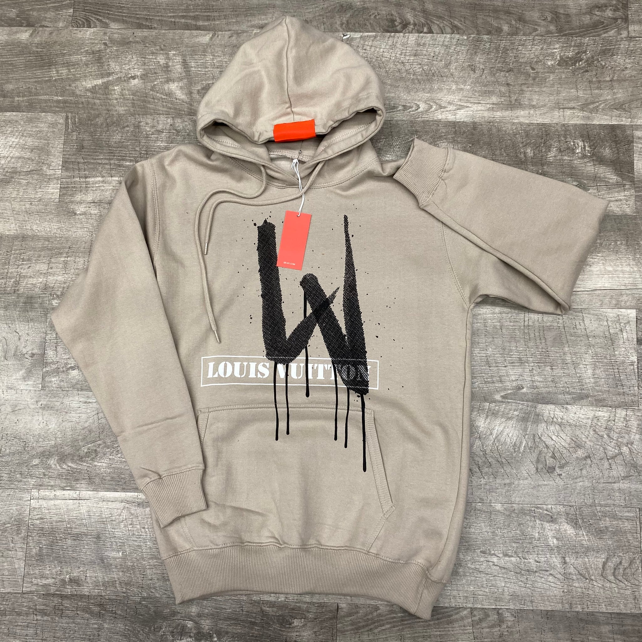 "The Knew ""DGX"" hoodie (tan)"