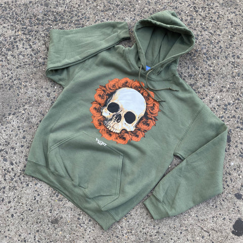 "Yachtpay ""Skull"" Hoodies (Olive)"