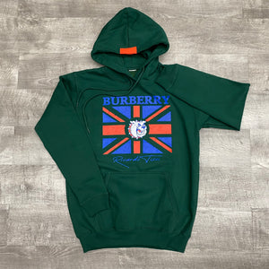 "The knew ""bulldog"" hoodie (forest green)"