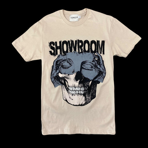 "Showroom ""change of faces"" tee (tan)"