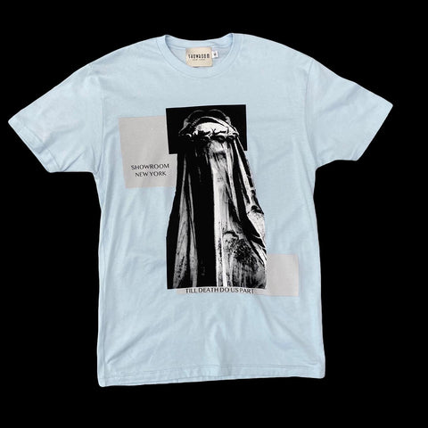 "Showroom ""IDT"" tee (powder blue)"
