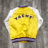 "Yacht Pay ""5thYr."" Satin bomber (Purple & Gold)"