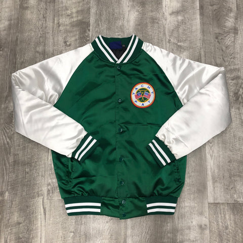 "Yacht Pay ""5thYr"" satin bomber (Green)"