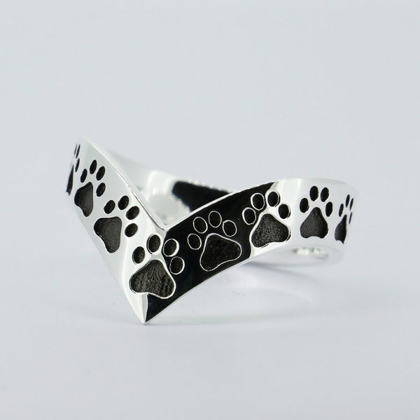 Solid Sterling Silver Paw Ring