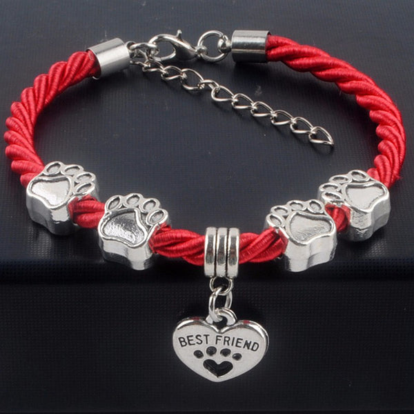 Dog Paw Rope Chain Bracelets