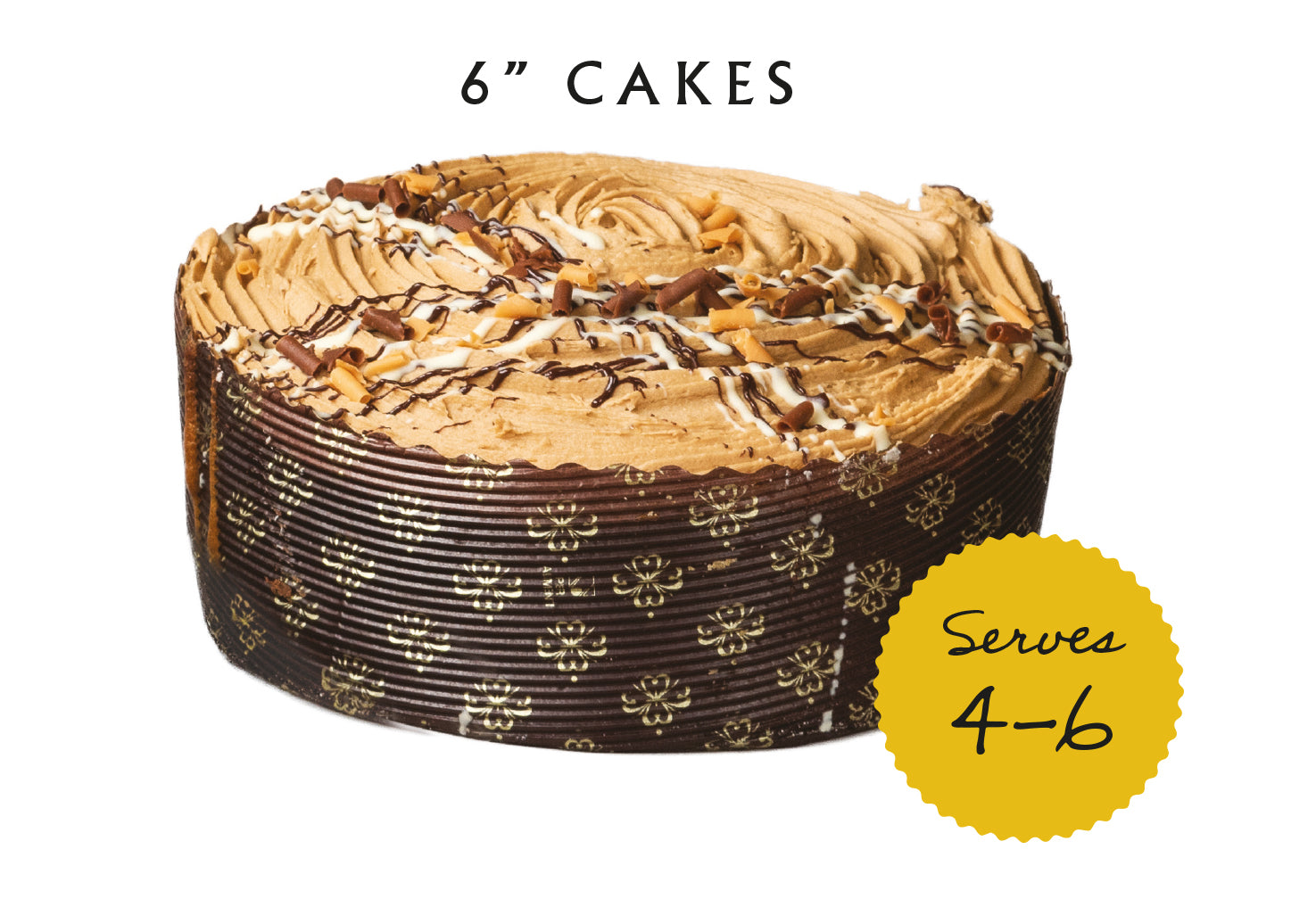 Cakes - 6 Inch - Various flavours LOCAL DELIVERY ITEM ONLY