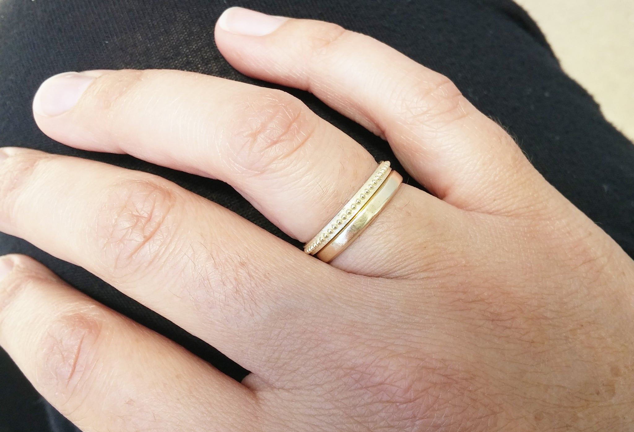 nash slim thin jewellery lilia band gold hammered by wedding ring liliandesigns original bands in product