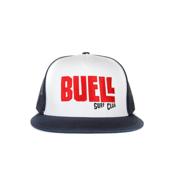 Buell Surf Club Trucker Hat - Navy/White
