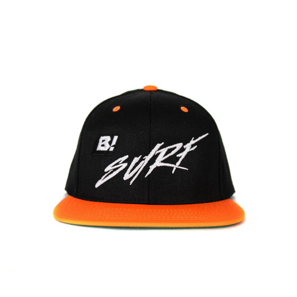 Buell B! Surf 2-Tone Snapback Hat - Black/Bright Orange