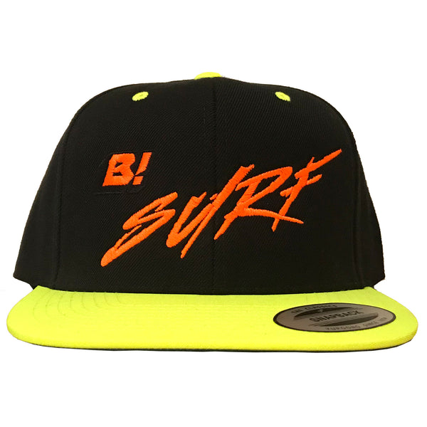 Buell B! Surf 2-Tone Snapback Hat - Black/Lime Green