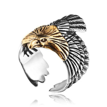 Eagle Stainless Steel Biker Ring