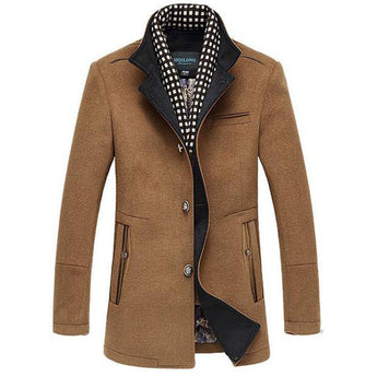 Men's Winter Woolen Jacket with thick Overcoat