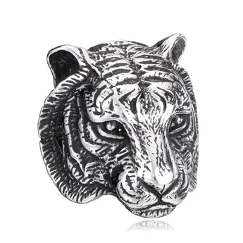 Tiger Head Punk Style Biker Ring