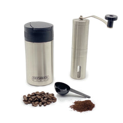 insulated French press and grinder