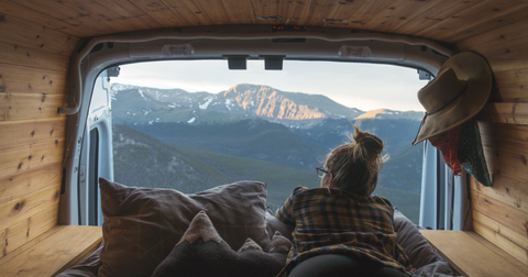 View from back of your camper van