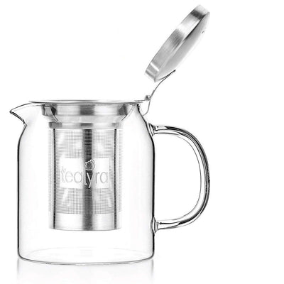 loose leaf glass teapot kettle