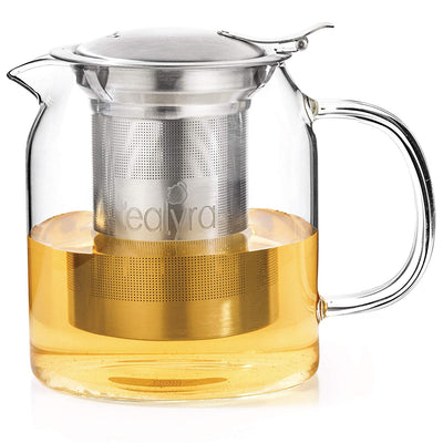 Pyxis Glass loose leaf teapot stovetop safe