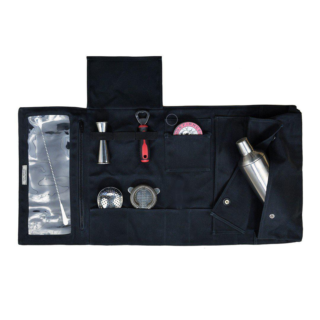 Defiance Tools Bartender Mixology Tool Set & 18 oz Waxed Canvas Roll