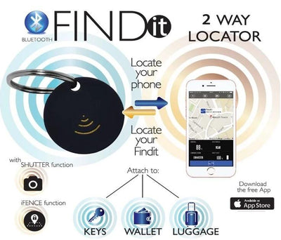 FIND IT Bluetooth 2-Way Locator is easy to use