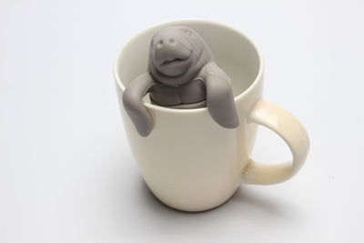 ManaTee Loose-Leaf Tea Infuser sits easily on the side of the cup