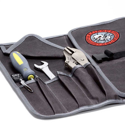 defiance tools waxed canvas tool roll with tools