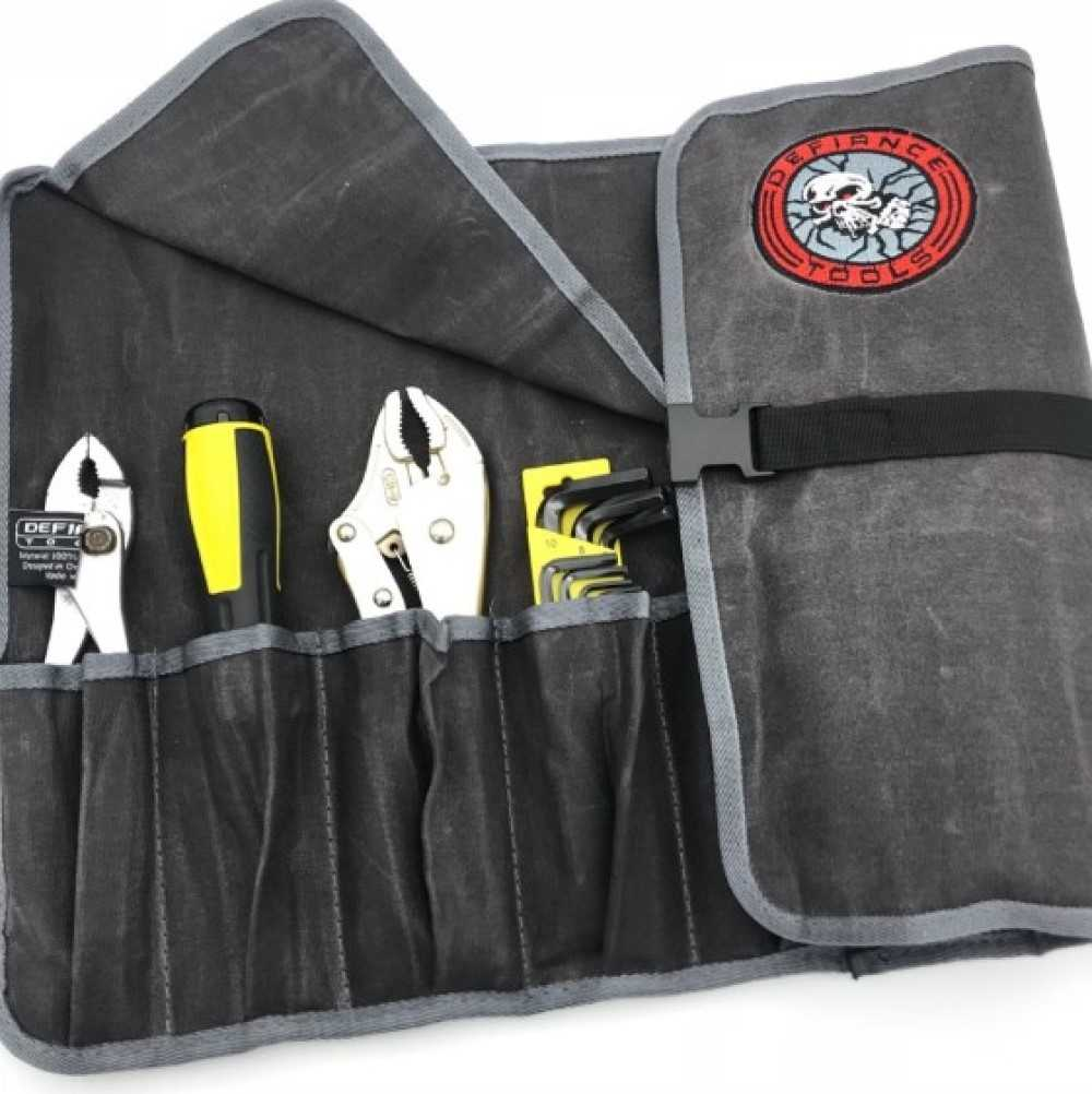 Defiance Tools waxed canvas tool roll