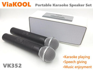 Portable Bluetooth Amplifier with 2 Microphones