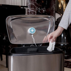Wondering how to get rid of odor just use the Ventifresh odor eliminator trash can