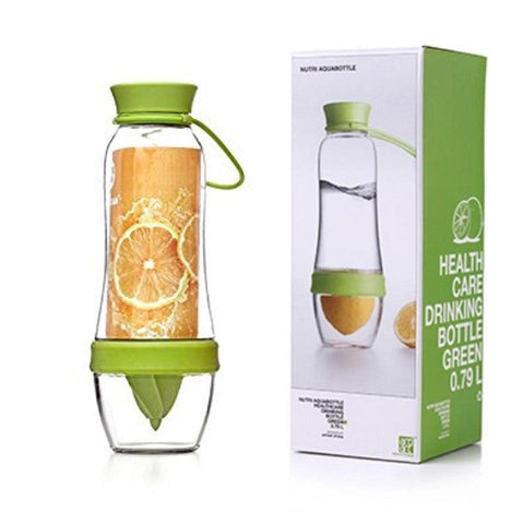 Fruit-Infusing Water Bottle & Juicer - Green