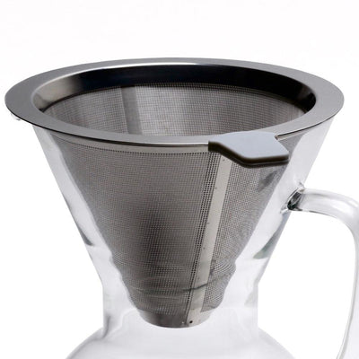Pour Over Coffee Pot with micro mesh stainless filter