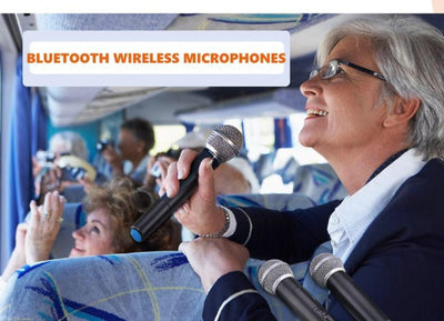 Portable Bluetooth Amplifier with 2 Microphones can be used for presentations at work
