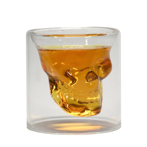 Defiance Tools double wall skull shot glass