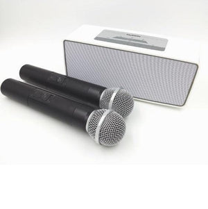 Bluetooth speaker karaoke with two microphones