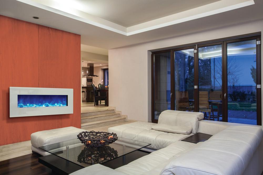 An Efficient Electric Wall Fireplace Provides Zone Heating