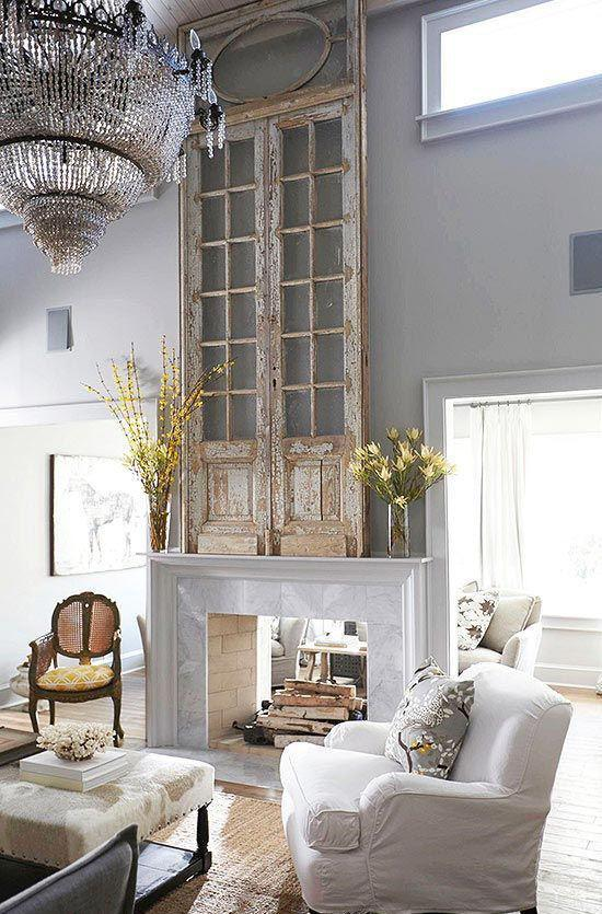 Eight Unique Fireplace Mantel Shelf Ideas with a High