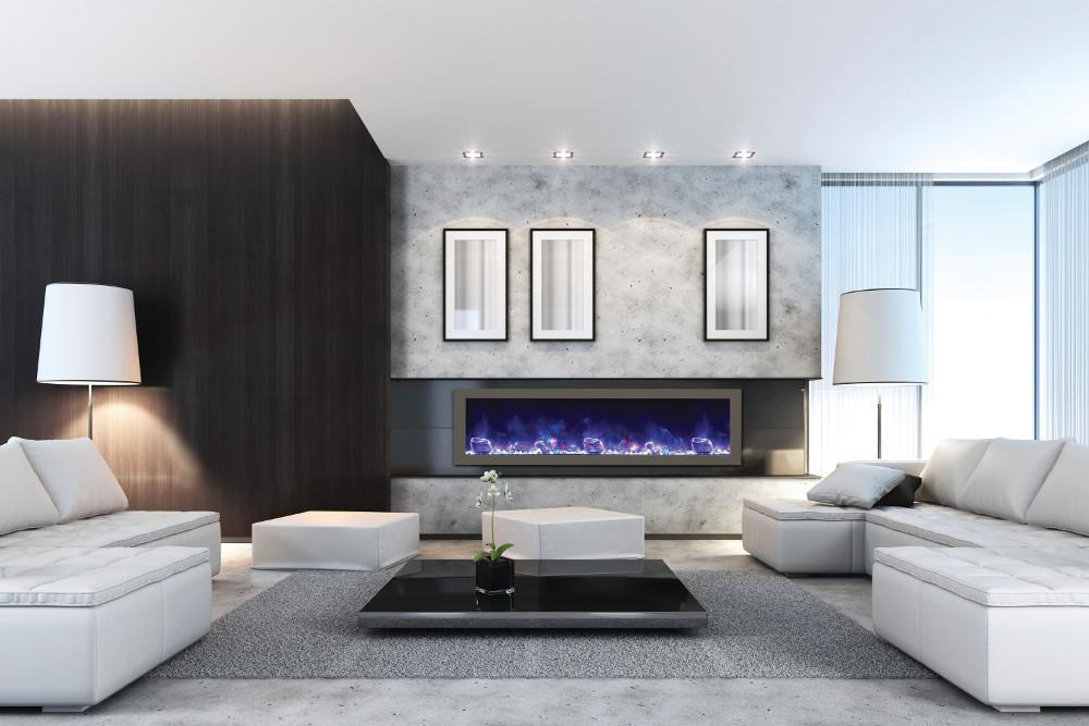 Fireplace Living Room Ideas - Electric Fireplaces Steal the Show