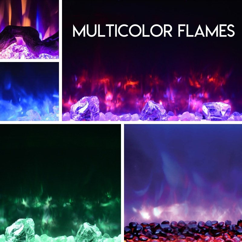 Color-Changing Fireplaces with Multicolor Flames